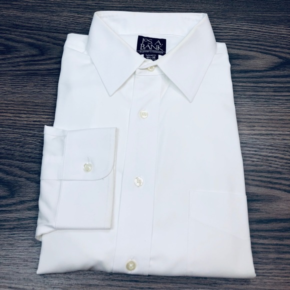 Jos. A. Bank Other - Jos A Bank White Tailored Fit Dress Shirt 16.5-35